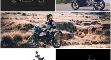 Touring motorcycles collage