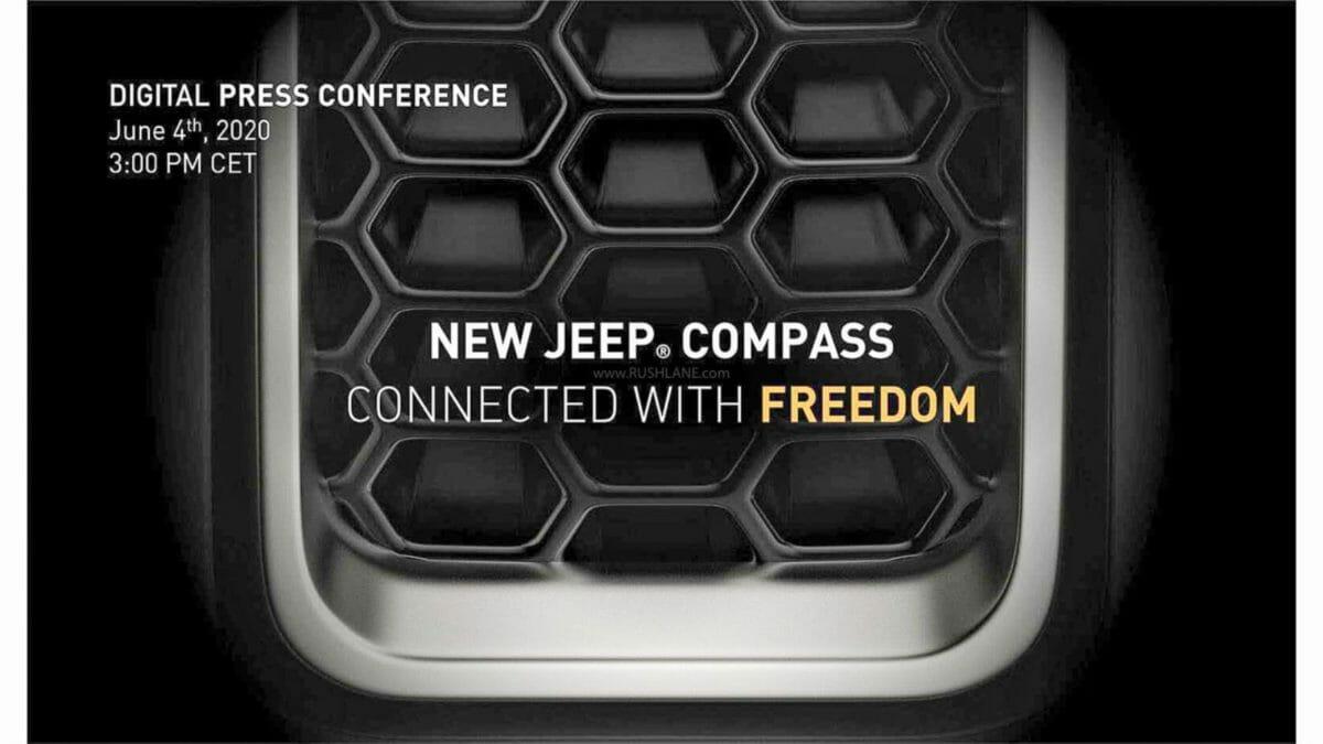 jeep compass facelift teaser
