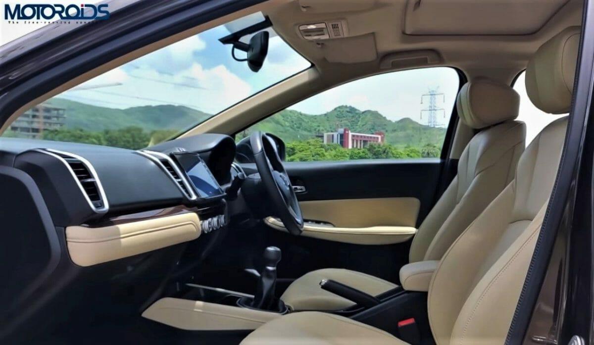 2020 Honda City front seats