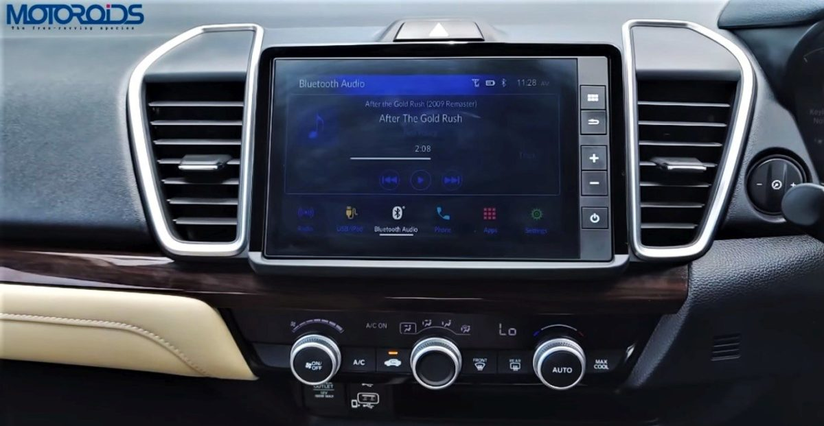 2020 Honda City touchscreen and AC control panel