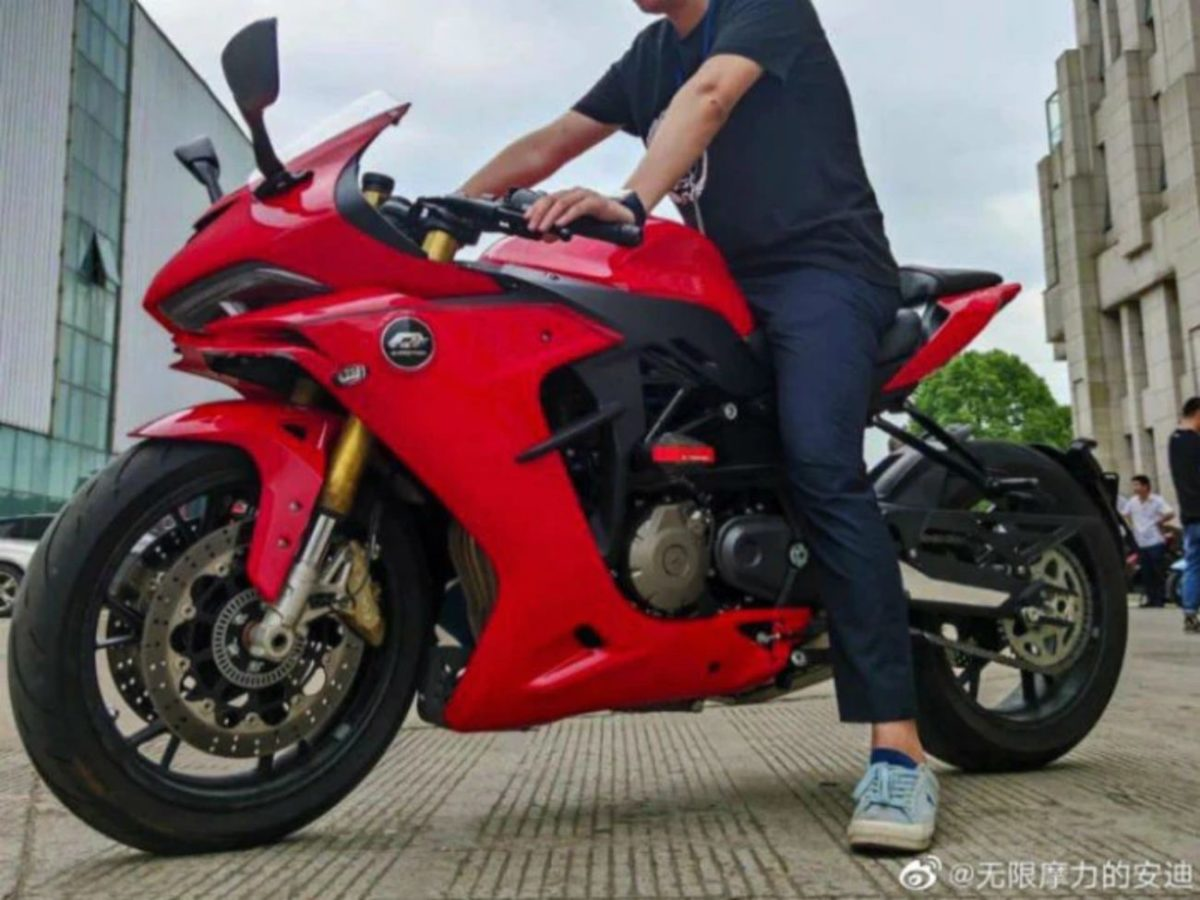 Benelli 600RR Spied Again