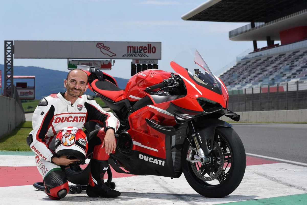 C. Domenicali (Ducati CEO) and Superleggera V4 at Mugello Circuit (1)