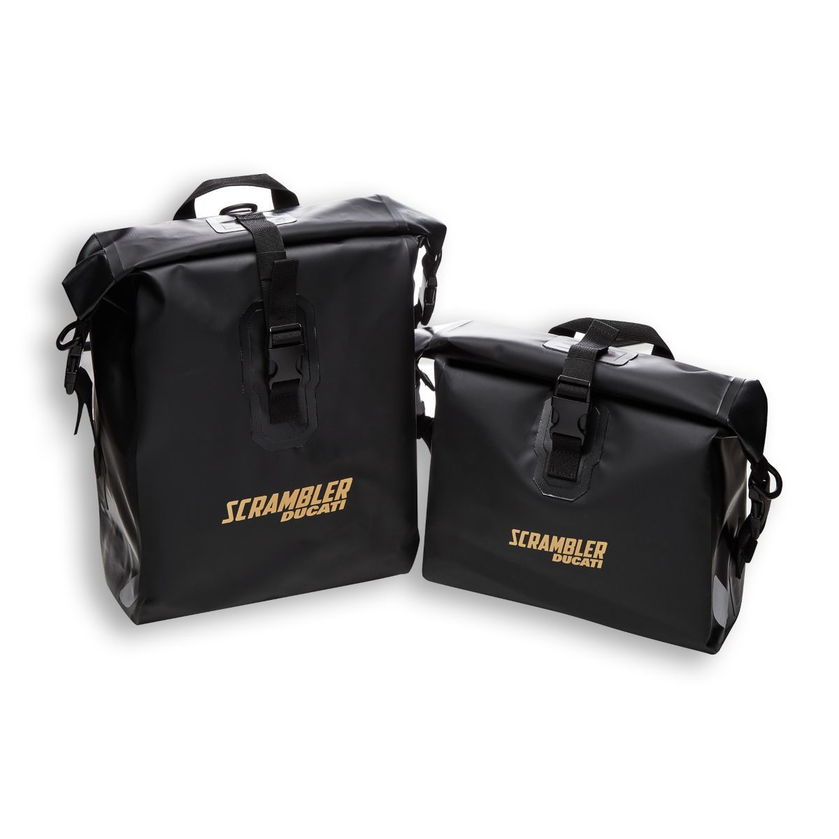 Ducati Scrambler Accessories – Waterproof side panniers (1)