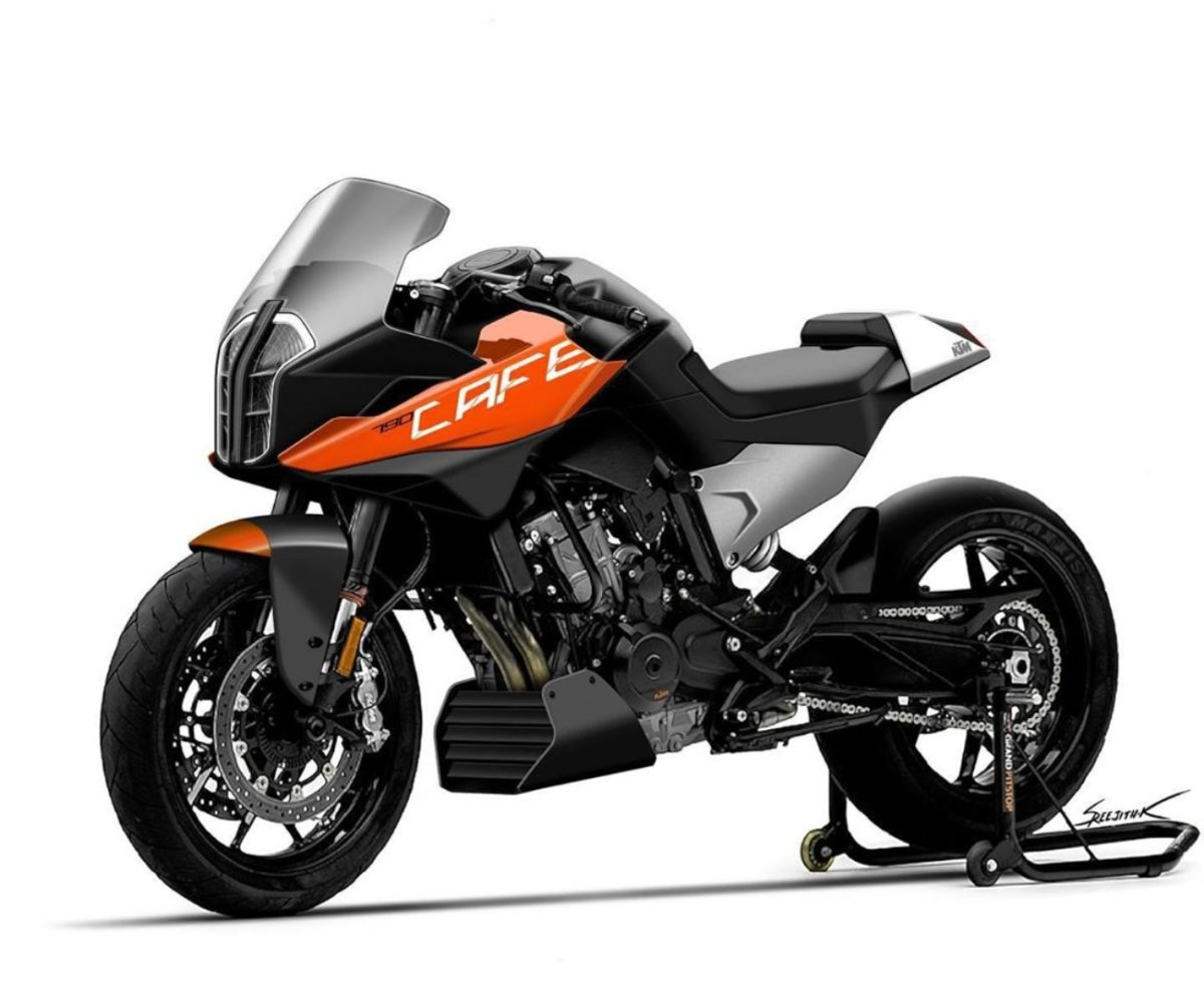 KTM Duke 790 cafe racer render