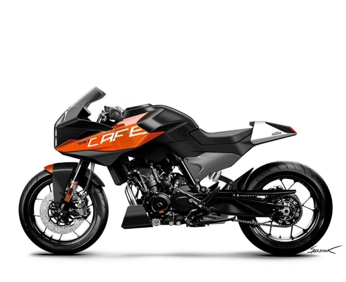 KTM Duke 790 cafe racer render 2
