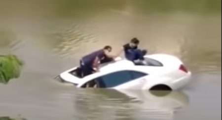 Mercedes S Class sunk