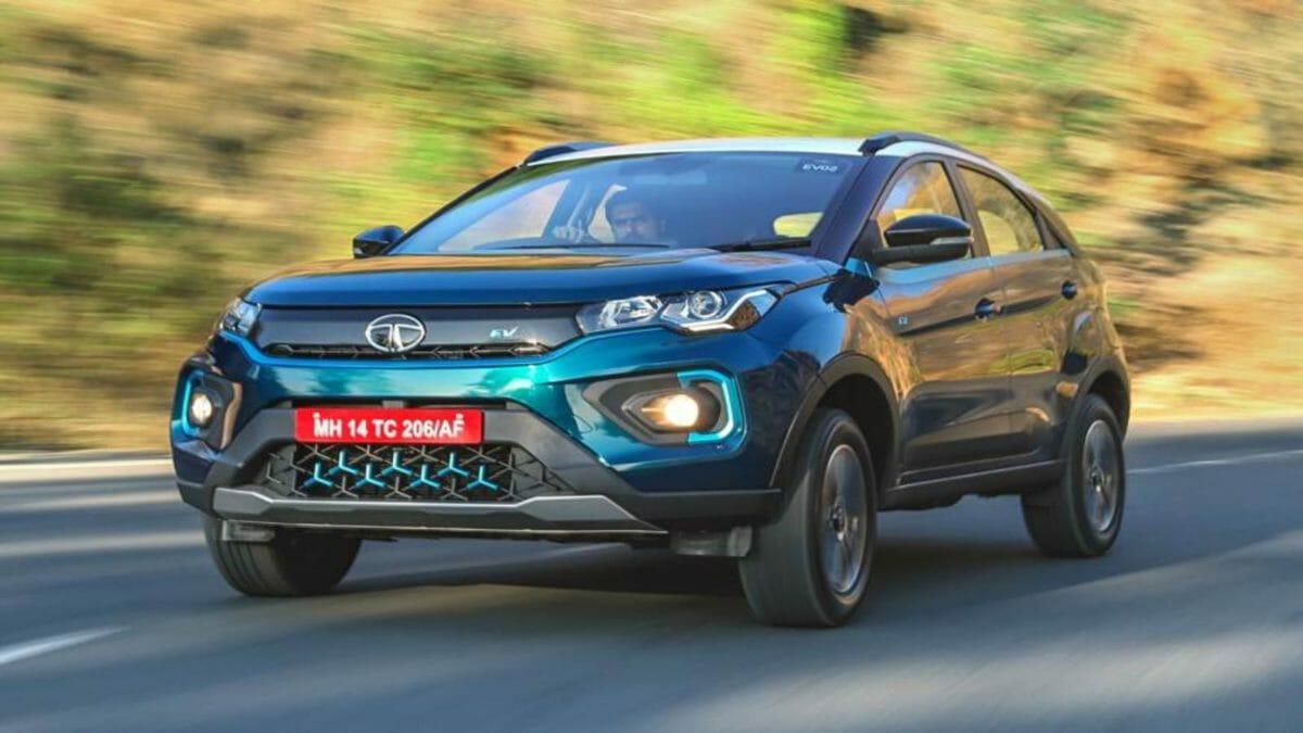 Tata Nexon EV front action