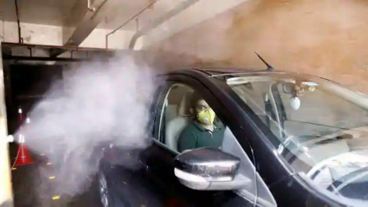 car sanitizaiton in malls