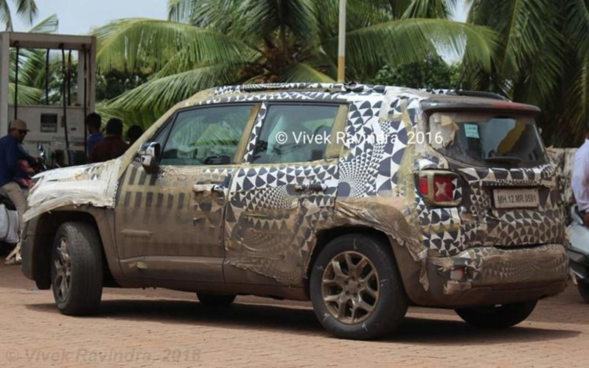 jeep renegade rear quarters spy shot india (1)