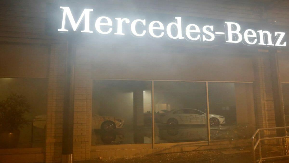 mercedes vandalised