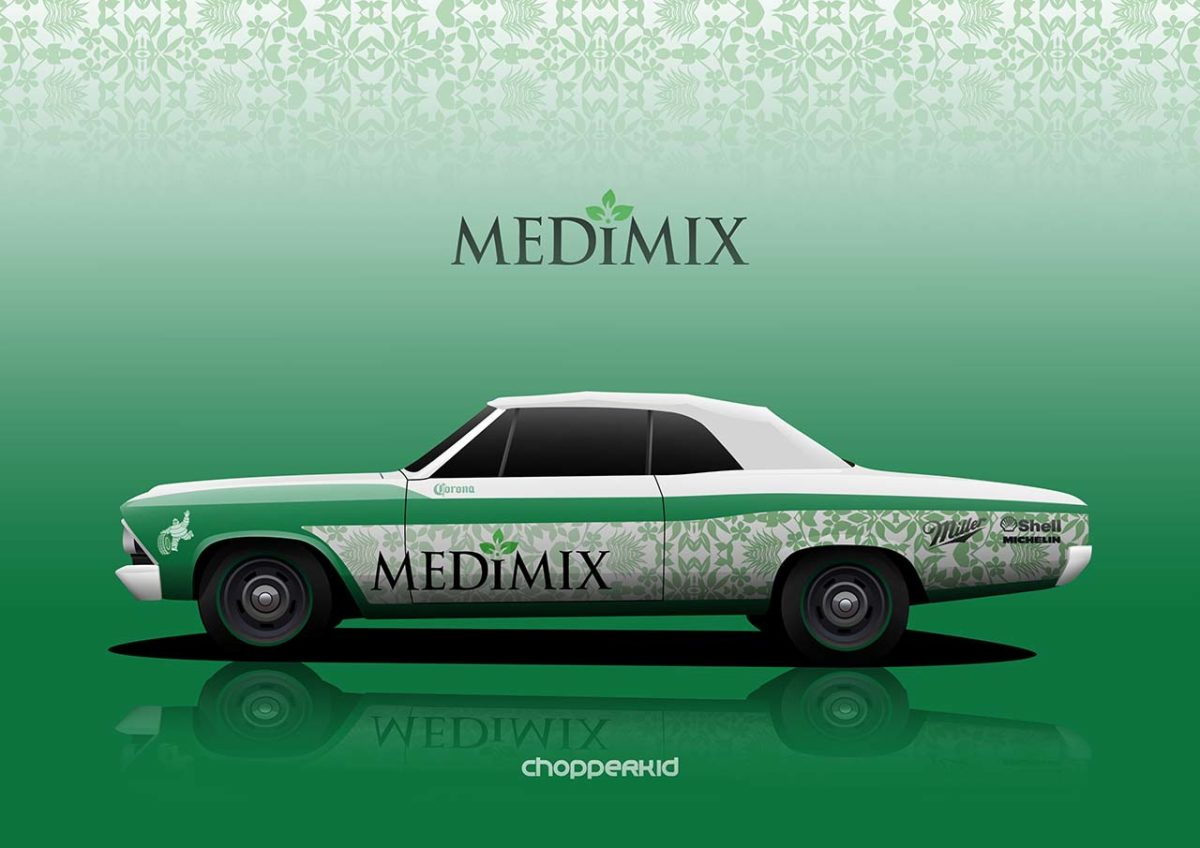nostalgic indian brands car liveries medimix chevelle