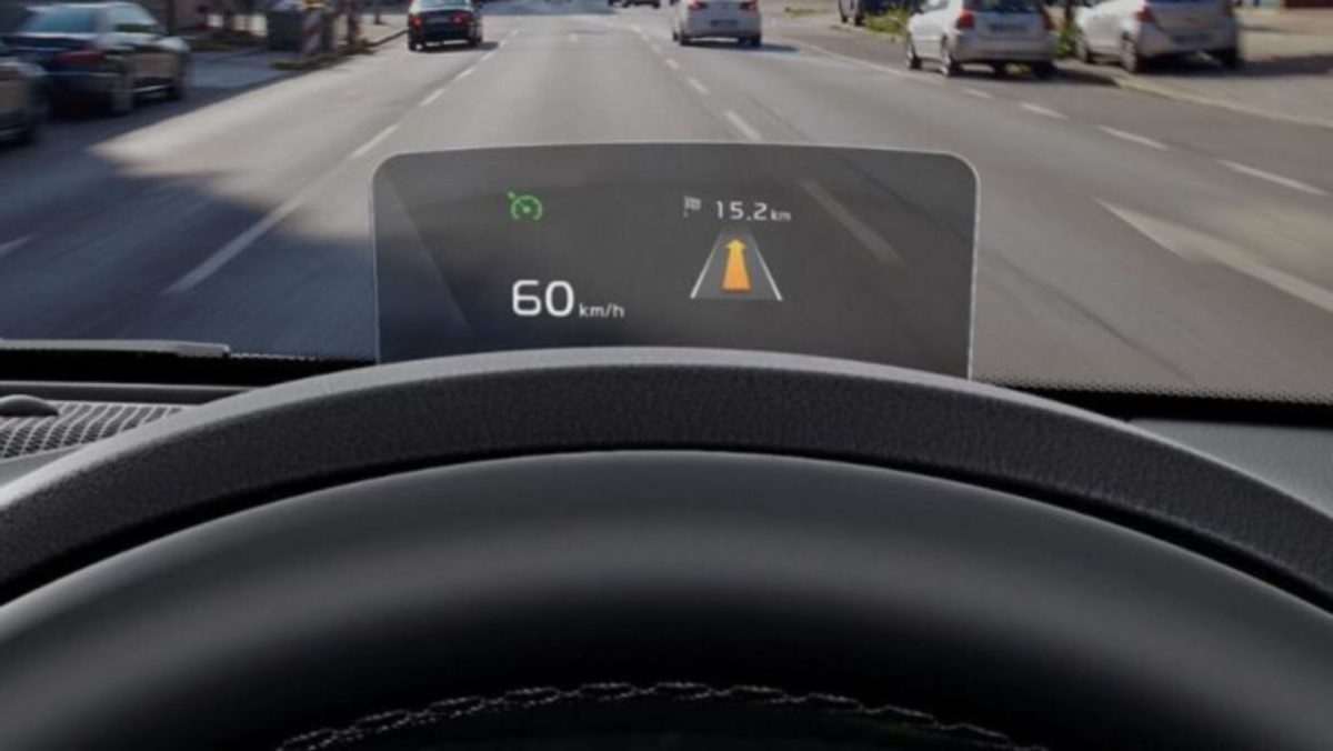 kia seltos heads up display
