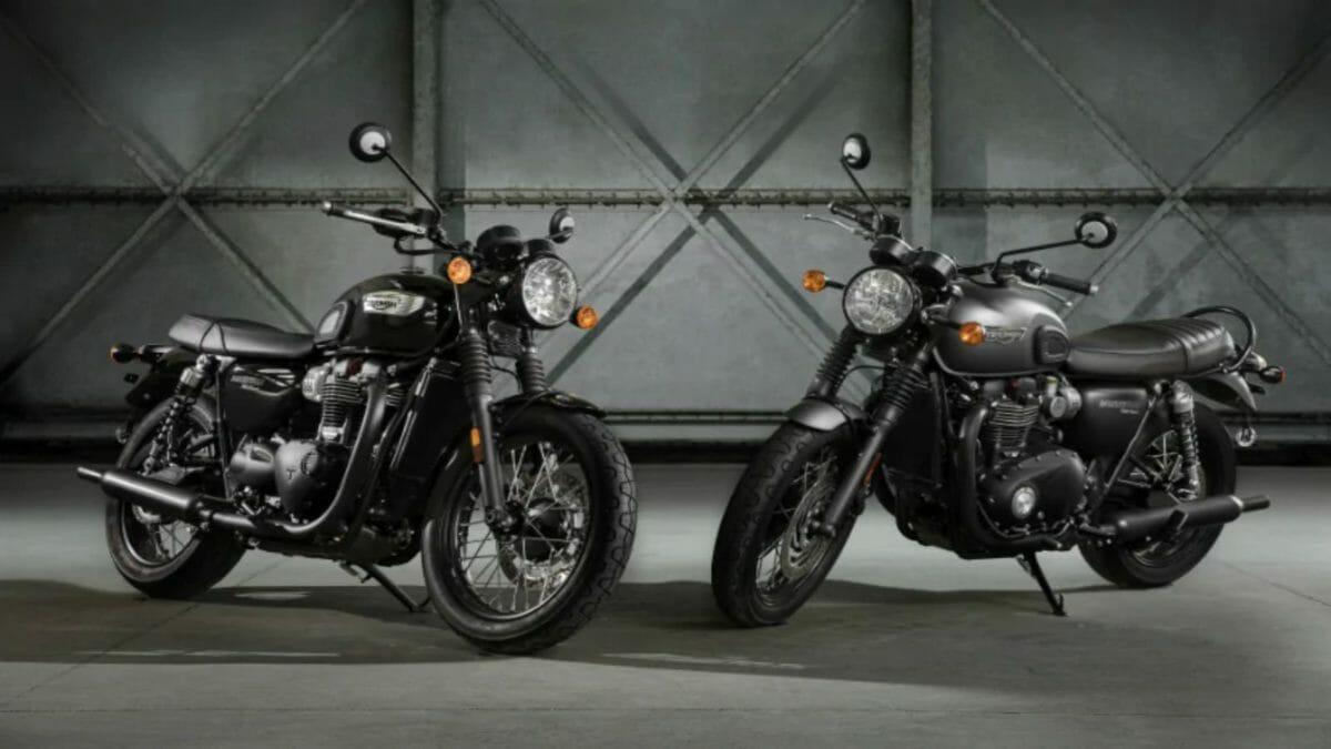 triumph bonneville street twins black