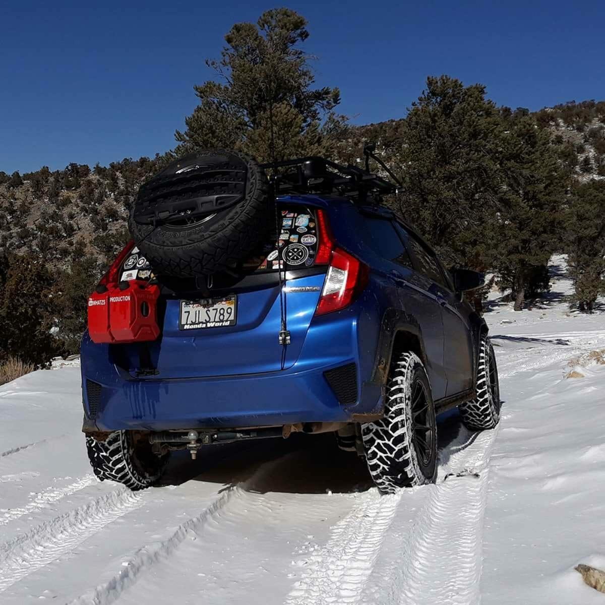Honda Jazz Battlewagon on offroad tires