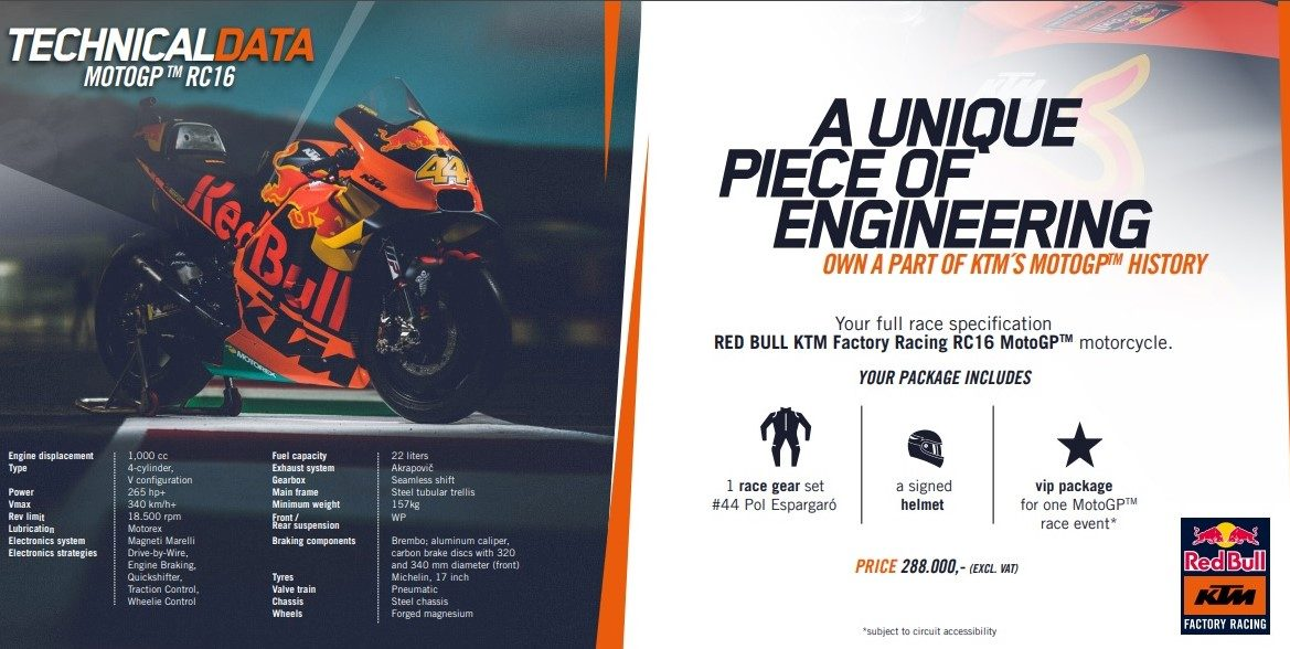KTM RC16 for sale