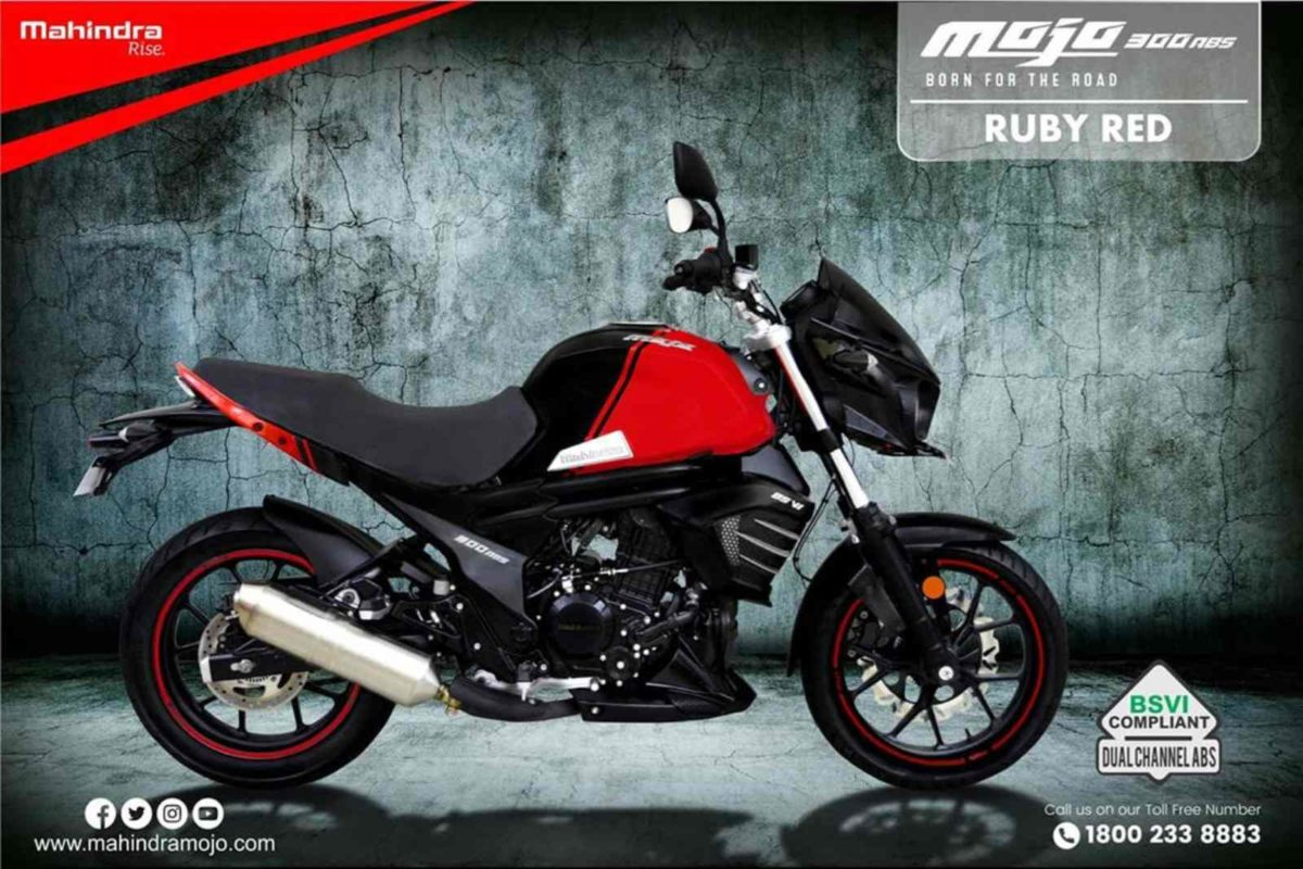 Mahindra Mojo Ruby red
