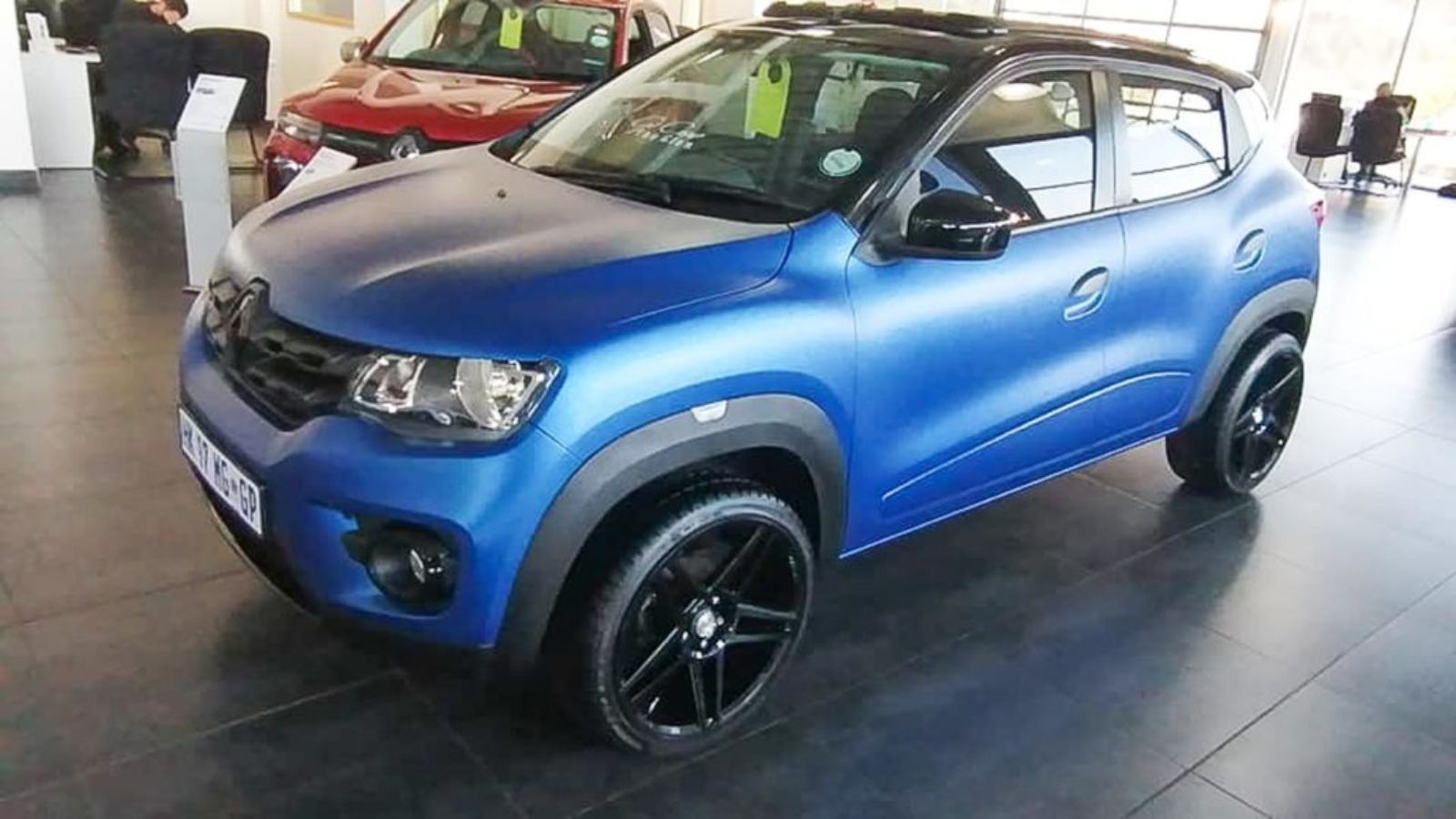 Modified Renault Kwid With Large Sunroof And Chunky Wheels Looks Great Motoroids