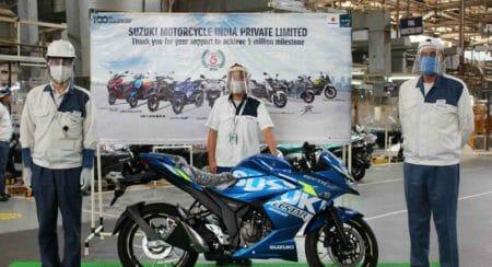 Suzuki Gixxer 5 millionth bike