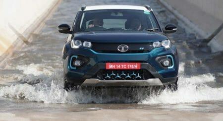 Tata Nexon EV - Water Wading Test