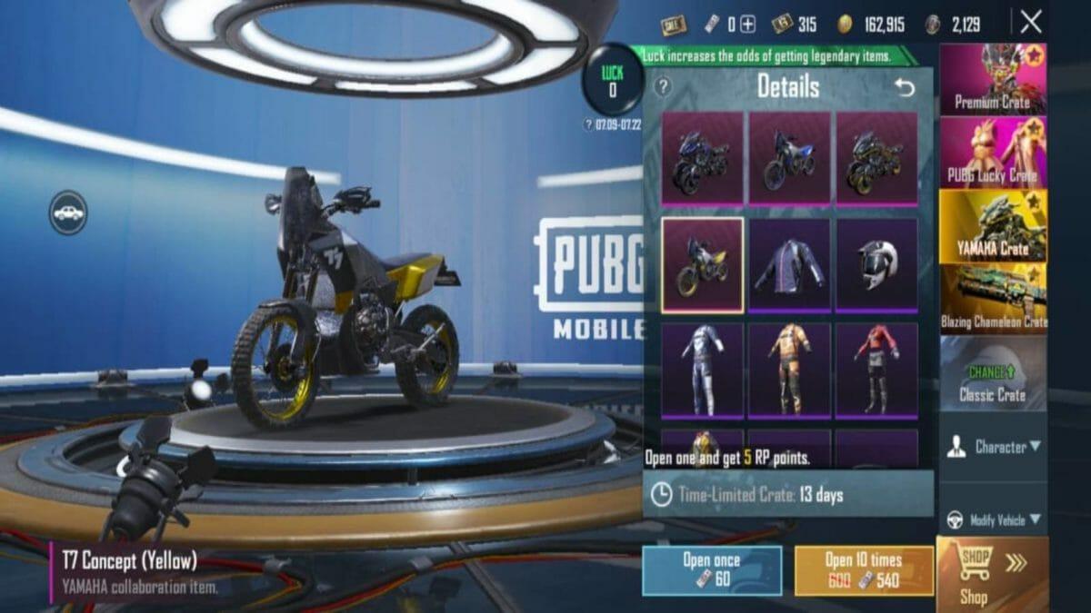 Yamaha PUBG Mobile 5