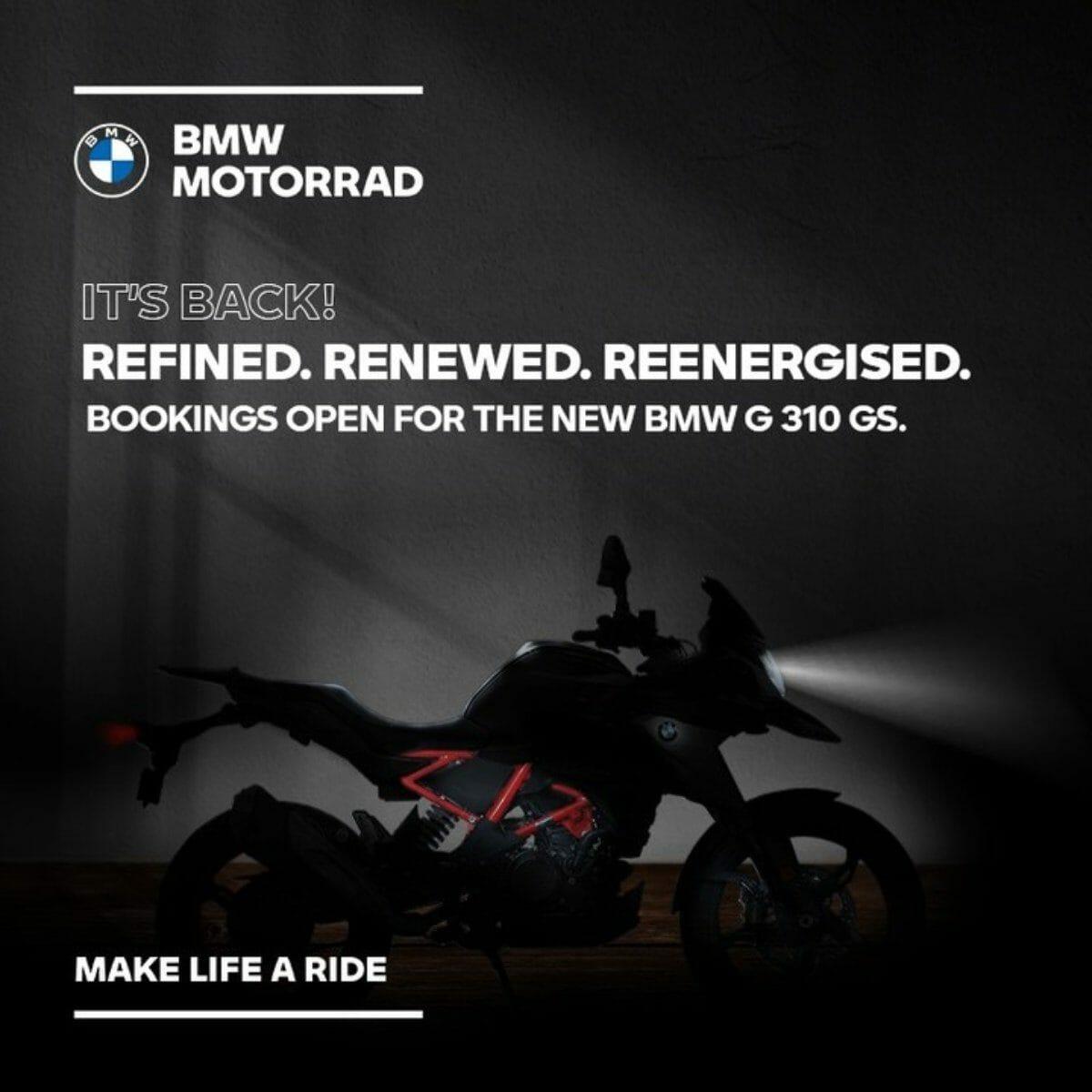 BMW G310GS Teased