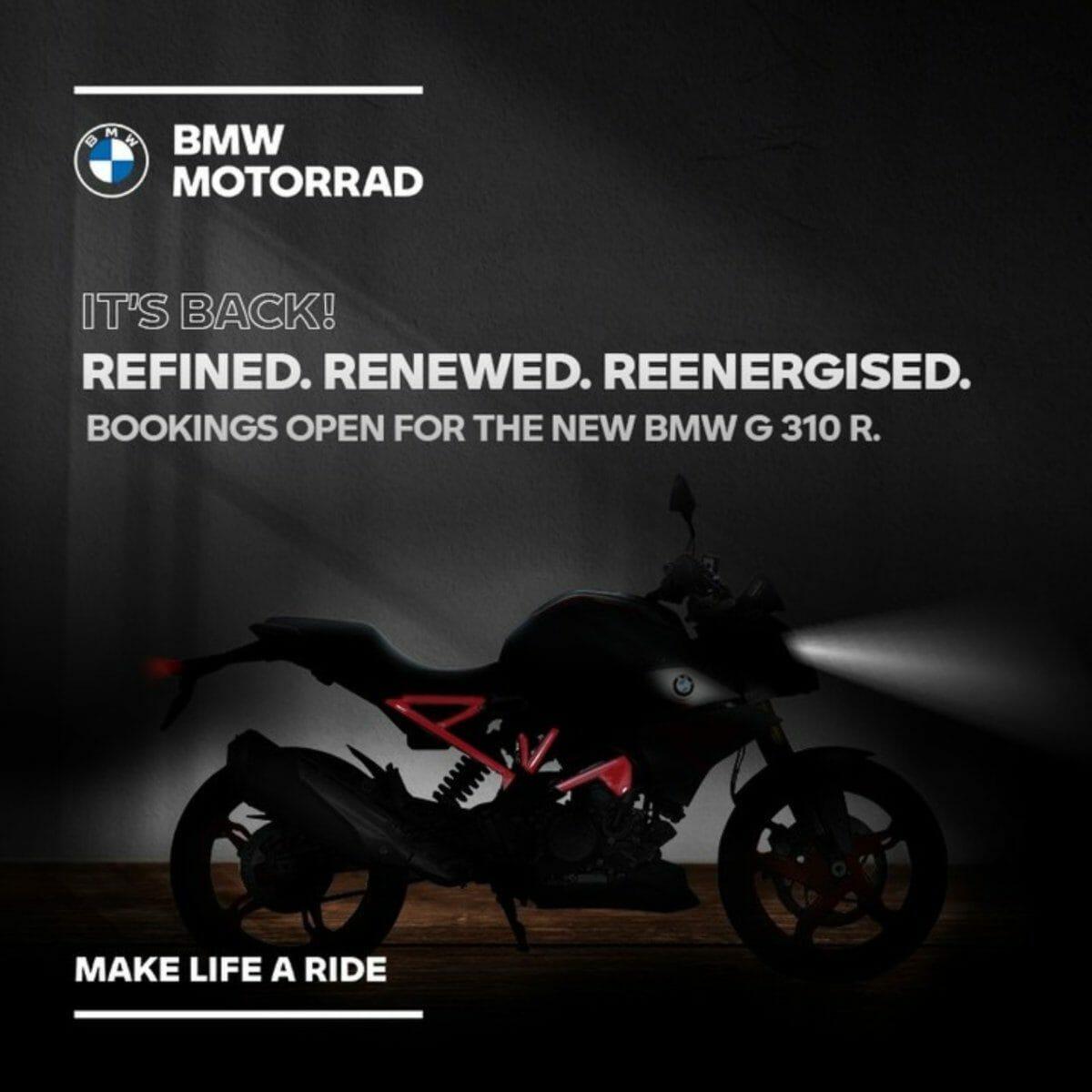 BS6 BMW G310R Teased