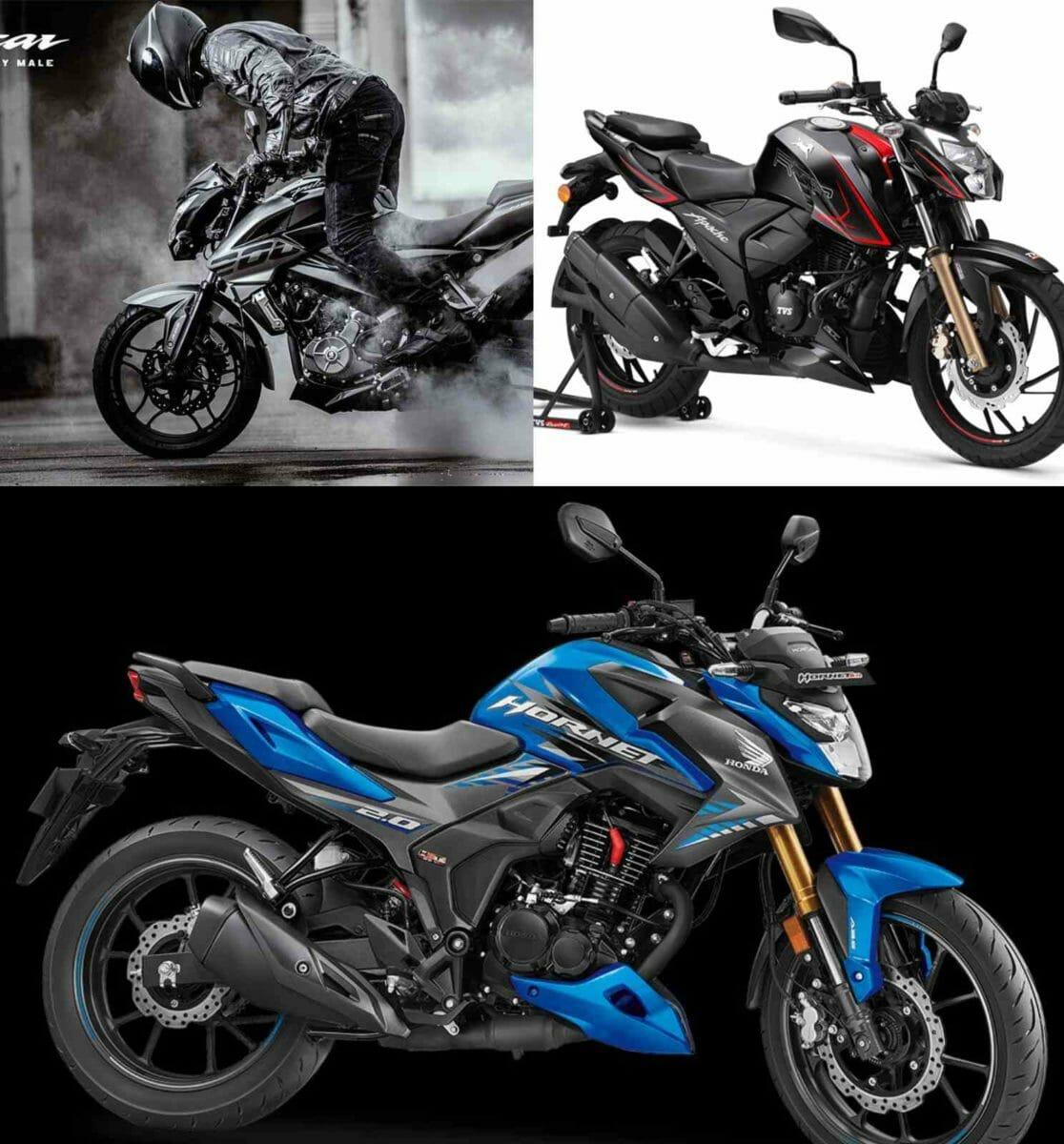 Honda Hornet 2.0 vs TVS Apache RTR 200 4V vs Bajaj Pulsar 200NS