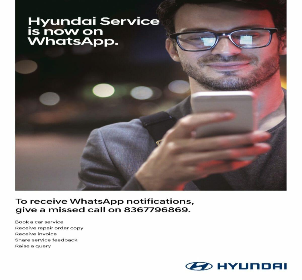 Hyundai service on whatsapp