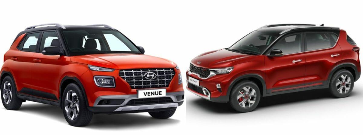 Kia Sonet vs Hyundai Venue Front