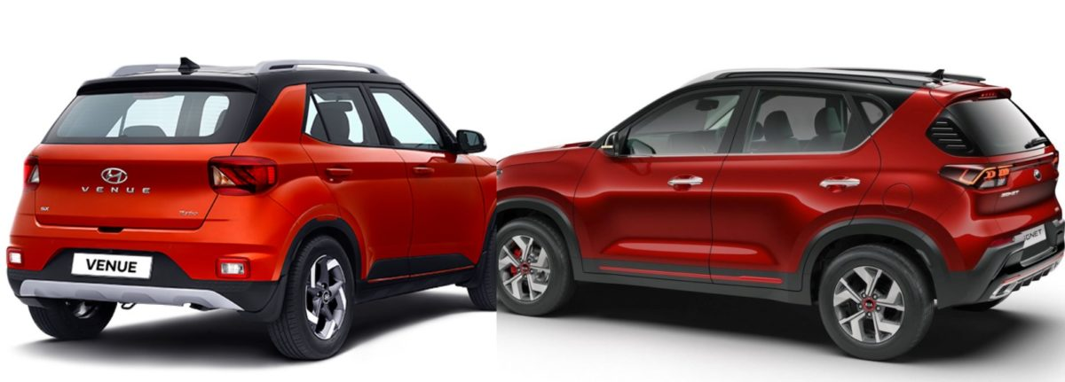 Kia Sonet vs Hyundai Venue rear