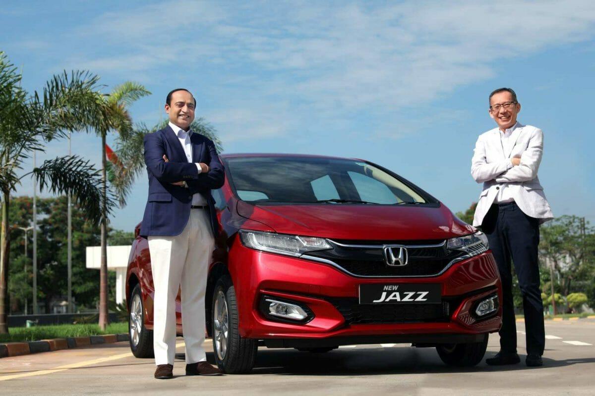 Mr. Gaku Nakanishi, President & CEO, Honda Cars India and Mr. Rajesh Goel, Sr. Vice President & Director, Marketing & Sales, Honda Cars India Ltd The New Jazz launch