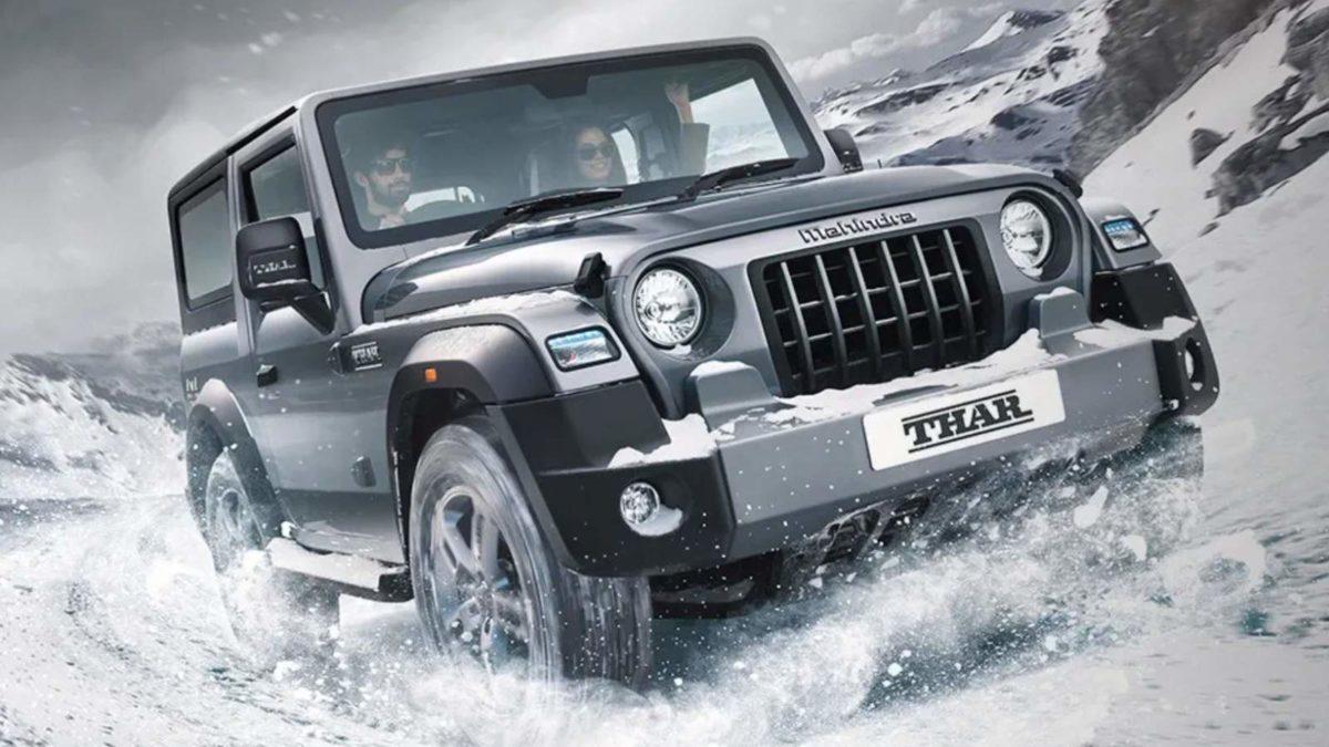 New Mahindra Thar Snow