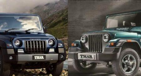 Specs Comparison: New Mahindra Thar Vs Old Mahindra Thar