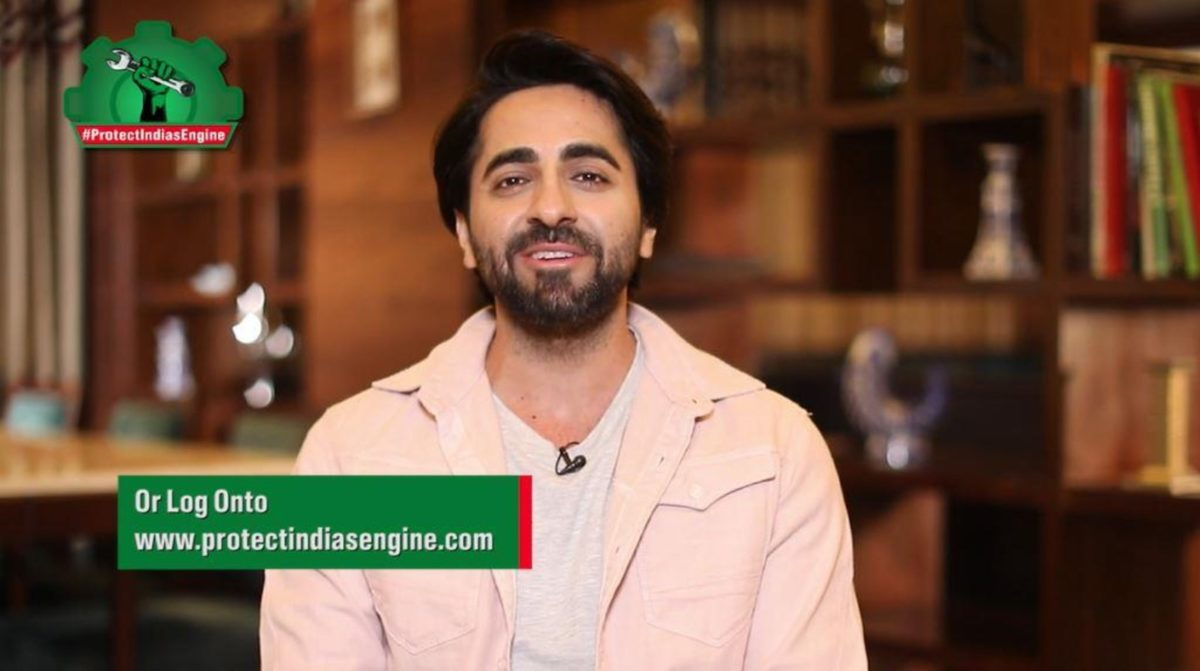 Ayushmann Khurrana urge youth to #ProtectIndiasEngine (1)