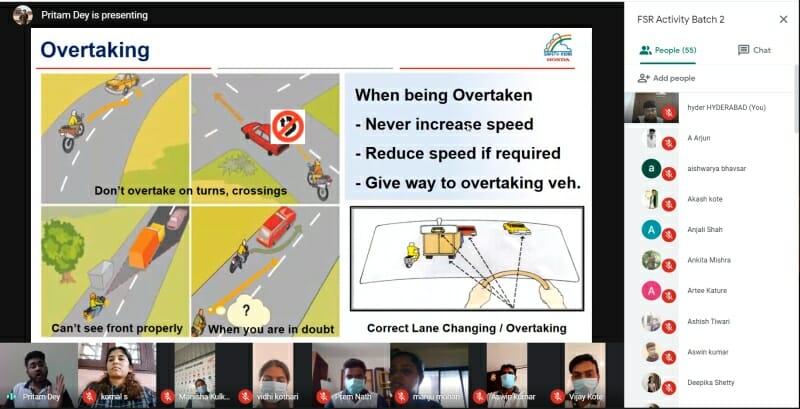 Honda 2Wheelers India conducts Digital Road Safety Awareness Training ex