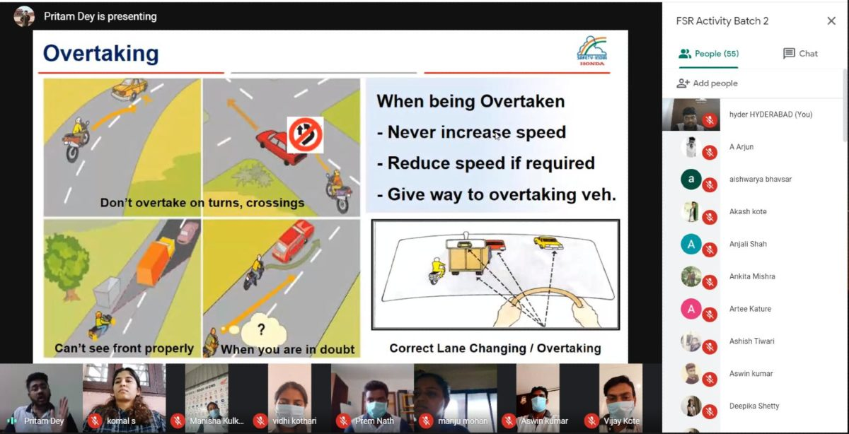 Honda 2Wheelers India conducts Digital Road Safety Awareness Training exclusively for females