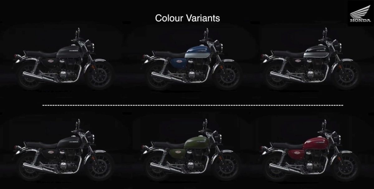Honda H'Ness CB350 Colour options