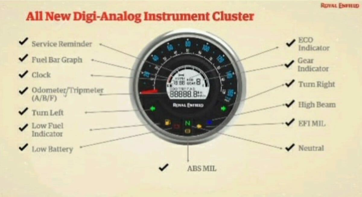 Royal Enfield Meteor 350 Instrument Cluster