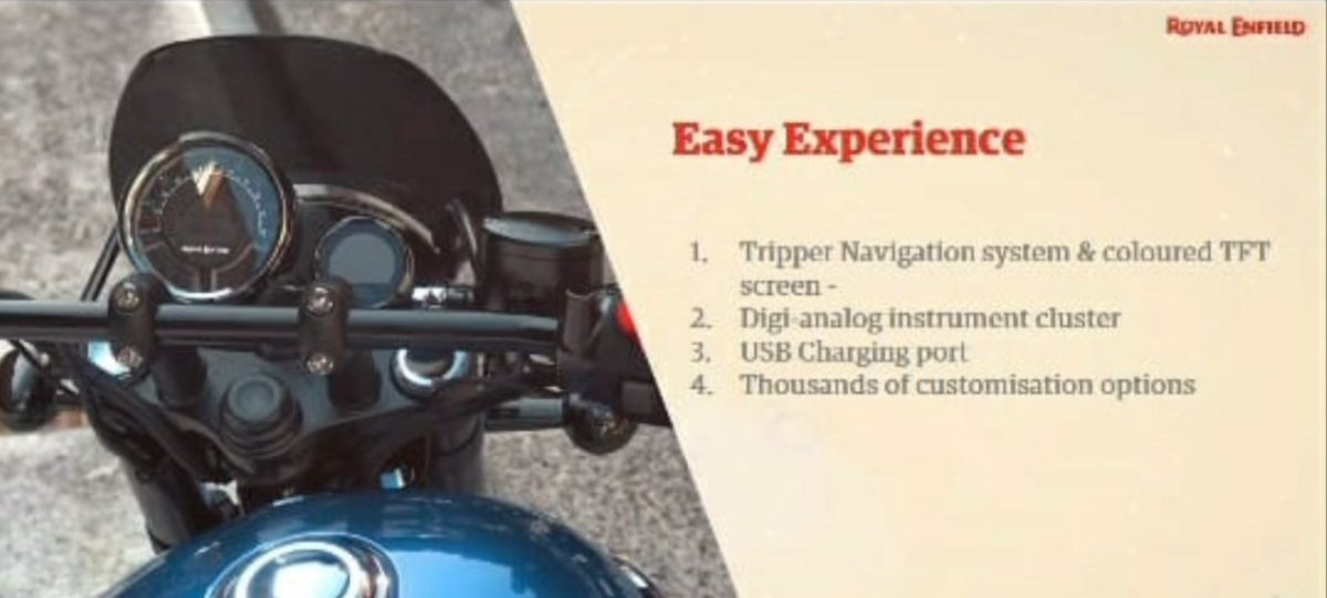 Royal Enfield Meteor 350 Instrument Cluster and Display