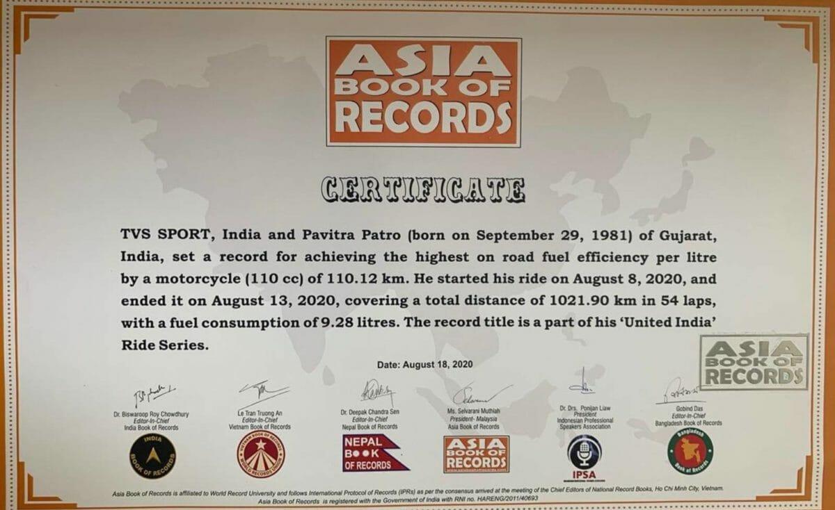 TVS Sport record (1)
