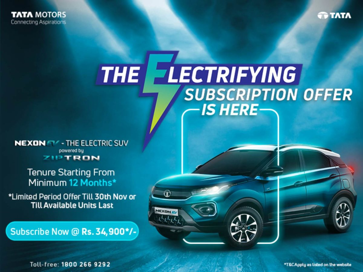 Tata Nexon Ev subscription offer