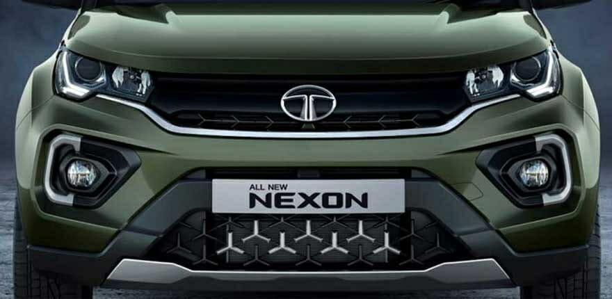 Tata Nexon Tri arrow grille