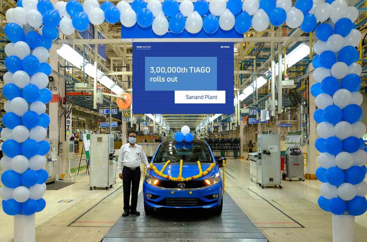Tata motors rolls 300000th tiago
