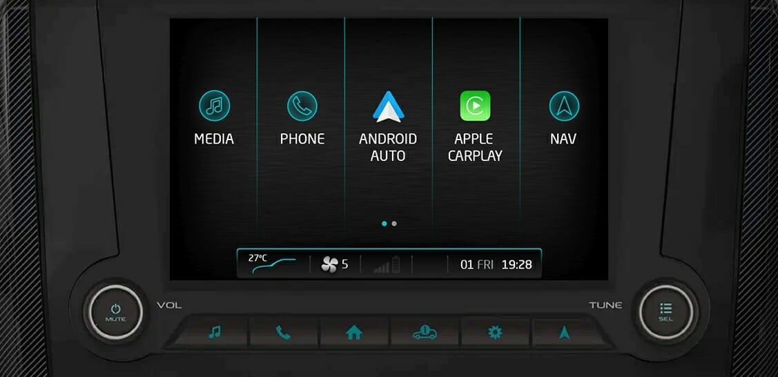 2020 Mahindra Scorpio Andorid Auto and Apple Carplay