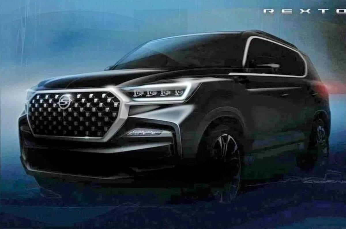 2021 SsangYong Rexton facelift fornt teaser (1)