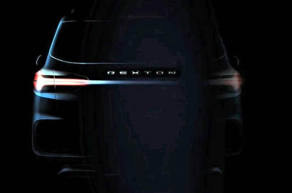 2021 SsangYong Rexton facelift rear teaser