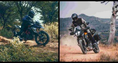 BMW KTM ADV collage