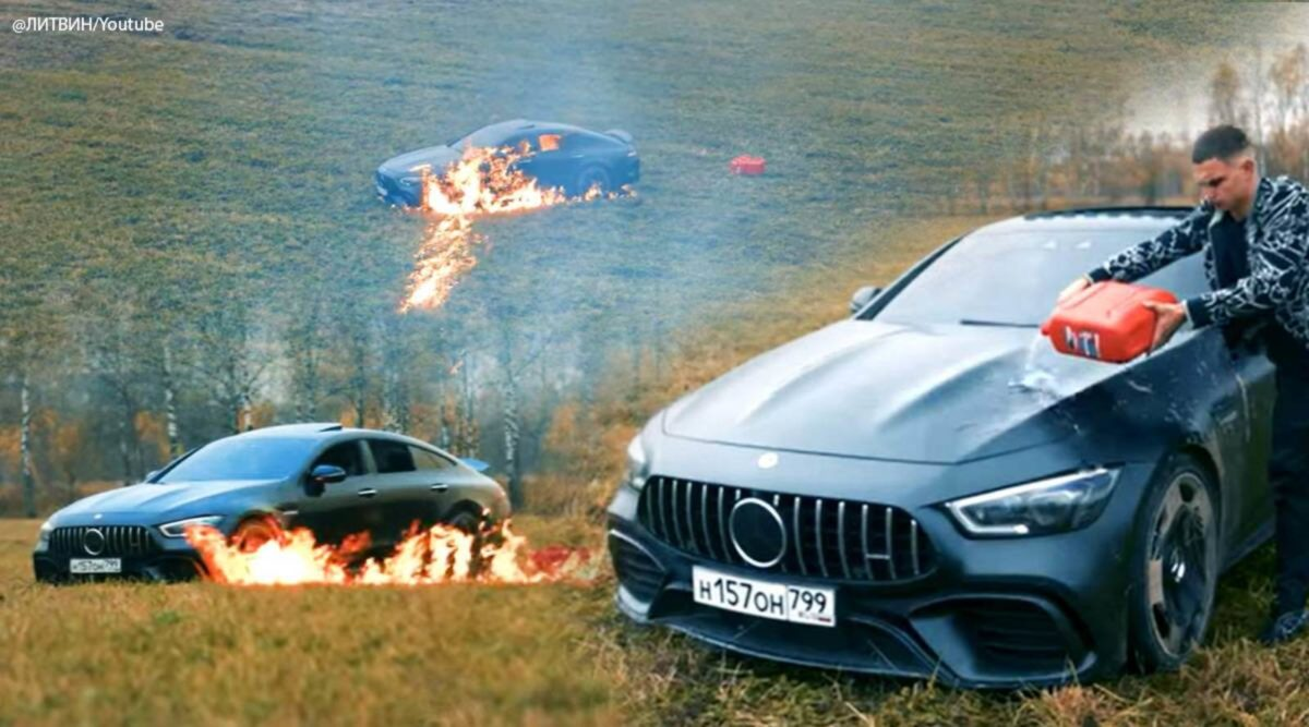 Mercedes AMG GT russian youtuber