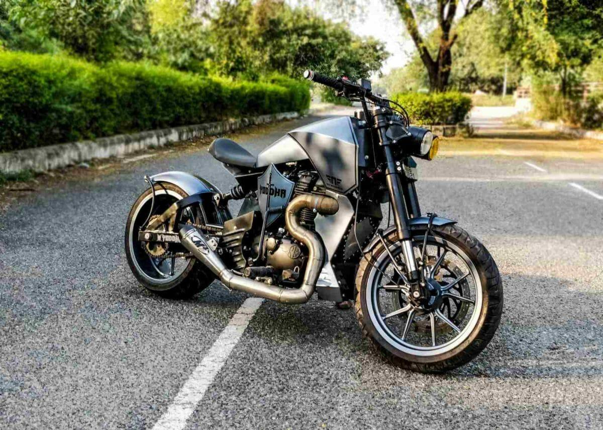 Neev Motorcycles Yodha custom RE Thunderbird 350