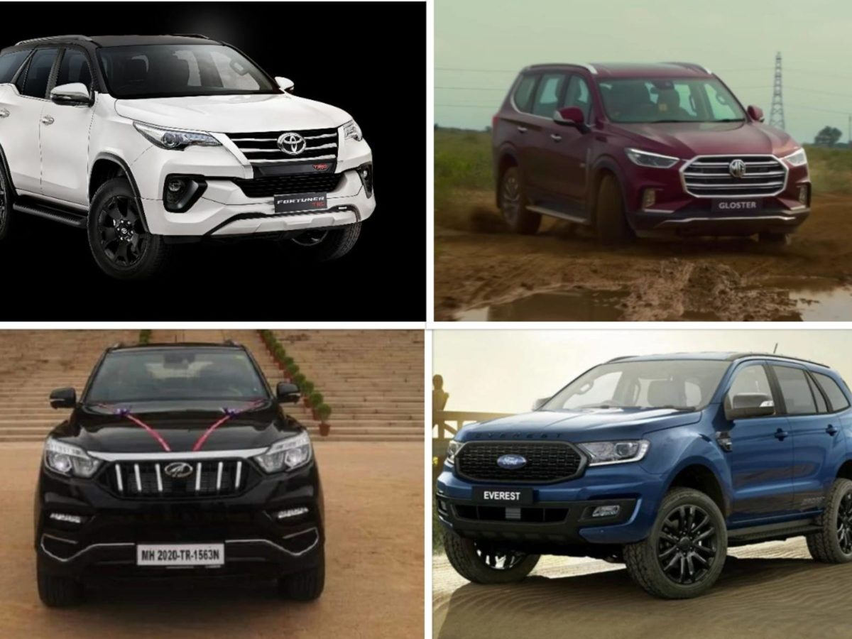 Premium SUV comparison Ford endeavour vs toyota fortuner vs mg gloster (1)